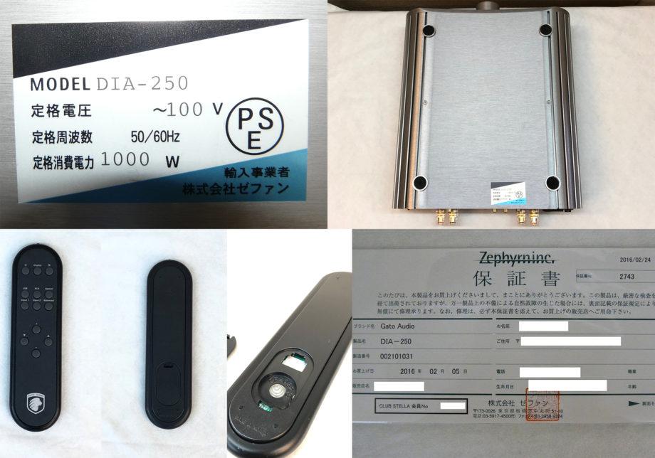 Gato Audio(ガトーオーディオ )DIA-250